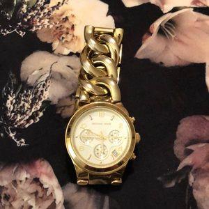 Michael Kors chronograph chain link watch, gold